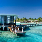 Arrival at Jumeirah Dhevanafushi, in the Maldives
