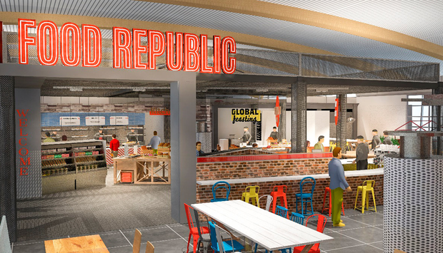 An artist's impression of the new food court coming to Cork Airport