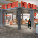 An artist's impression of the new food court at Cork Airport