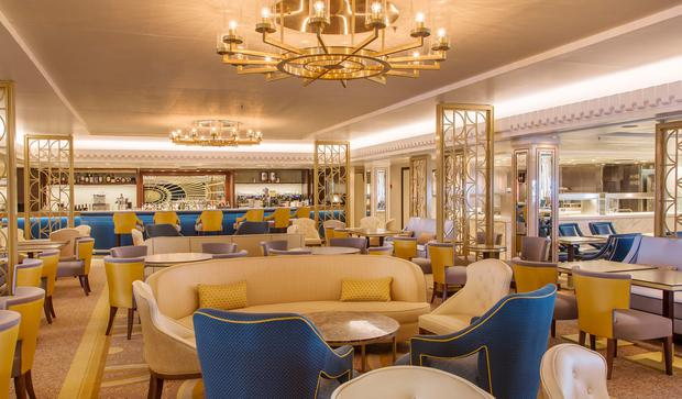 The Carinthia Lounge on board the Queen Mary 2. PA Photo/Handout.