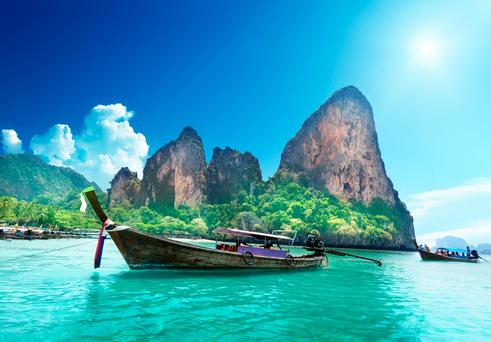 Railay beach in Krabi, Thailand . Photo: Deposit