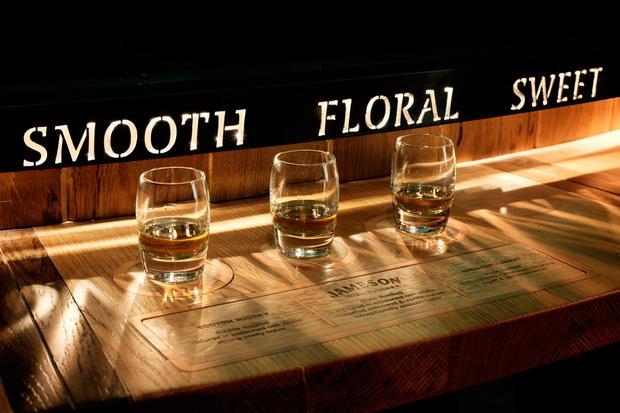 Whiskey tastings at the newly revamped Jameson Distillery Bow St
