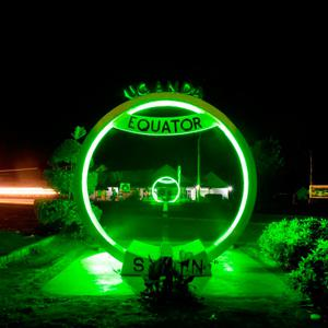 The Equator Sign and Line in Uganda joins Tourism Ireland's Global Greening initiative, to celebrate the island of Ireland and St Patrick. Pic – Will Boase (no repro fee)