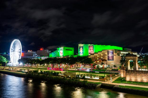 The Queensland Performing Arts Centre (QPAC) in Brisbane (Australia) joins Tourism Ireland's Global Greening initiative, to celebrate the island of Ireland and St Patrick.