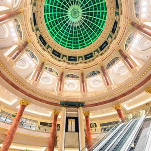 The Trafford Centre in Manchester joins Tourism Ireland's Global Greening initiative, to celebrate the island of Ireland and St Patrick. Pic – Anthony Devlin