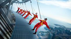 Toronto's 'Edgewalk' at the CN Tower. See edgewalkcntower.com