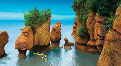 Kayaking in the Bay of Fundy. Photo: Tourism New Brunswick