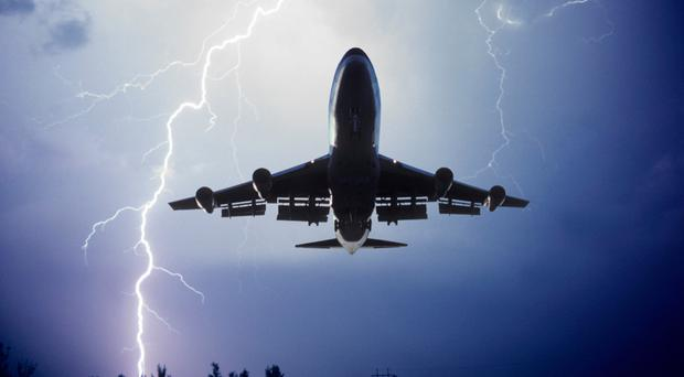 What happens when lightning hits an airplane?