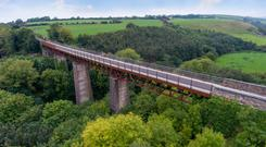 A viaduct along the Waterford Greenway, Ireland's longest off-road walking and cycling experience.
