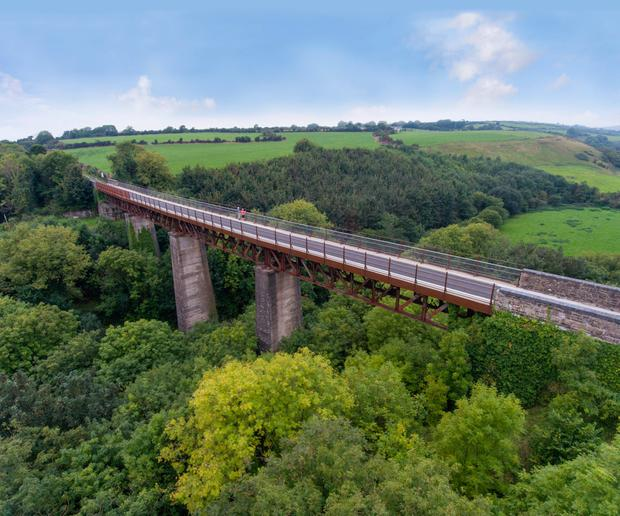 A viaduct along the Waterford Greenway, Ireland's longestoff-road walking and cycling experience.