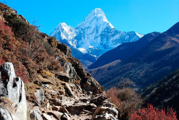 Hiking to Everest Base Camp. Photo: Brendan Daly