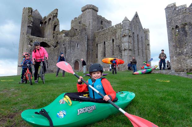 Tipperary Tourism launched its new brand identity 'Tipperary, Time to Take it all In' at the Rock of Cashel. Photo: Don MacMonagle