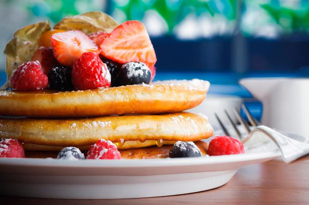 Sunday Brunch pancakes at The Merrion