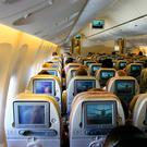 Airplane interior. Stock photo: Deposit