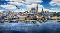 The Suleymaniye Mosque, built on the order of Sultan Suleyman between 1550 and 1557. It's just one of the many jaw-dropping sights you can see during a ferry trip on Istanbul's waterways