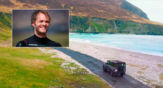 Francois Colussi (inset), star in the first of a new series of adventure tourism videos from Mayo.