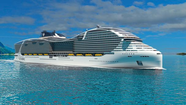 MSC's 'World Class' cruise ships, setting sail from 2022
