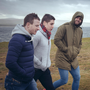Mayo GAA stars Aidan O'Shea, Colm Boyle and Lee Keegan at Downpatrick Head during a Cut Media shoot with Mayo.ie