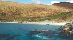 Con Doherty (front of picture) training in Keem Bay, Achill Island. From 'Transitions', a film by Cut Media & Mayo.ie.