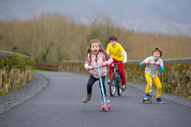 Young enthusiasts on Waterford Greenway. Picture: Patrick Browne