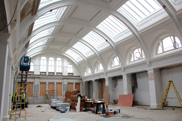 Titanic Hotel Belfast, drawing offices during restoration