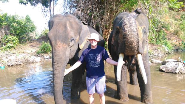 The seeds of adventure were sown for Jim Blake after his children began globetrotting