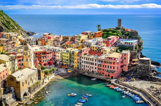 Summer colour: The multi-hued harbour in Vernazza