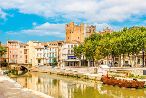 River canal of Robine in Narbonne