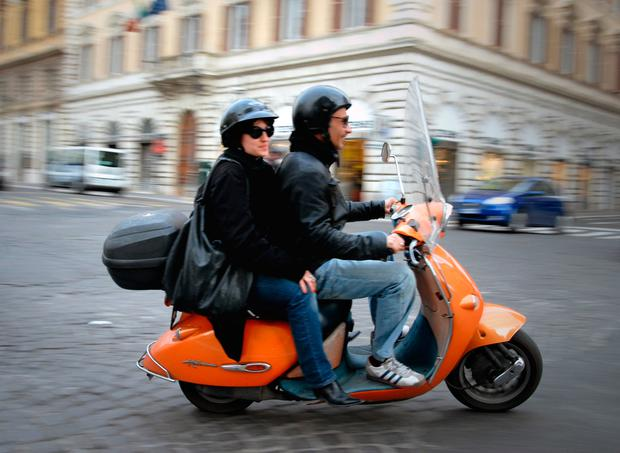 Moped, Via Nationale, Rome.jpg