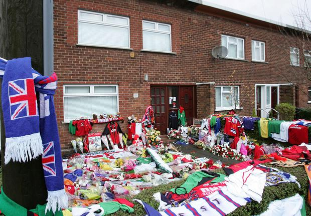 BELFAST: George Best's family home in Belfast after the former footballer's death in 2005. Photo: Christopher Furlong/Getty Images