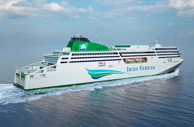 Irish Ferries' new €144m cruise ferry (artist's impression from rear)