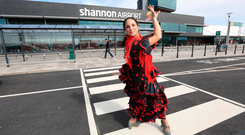 Dancing for joy as Ryanair announces a new Shannon to Barcelona-Reus service from March 27, 2018.