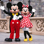 Mickey and Minnie Mouse in Disneyland Paris. Photo by PASCAL DELLA ZUANA/Sygma via Getty Images