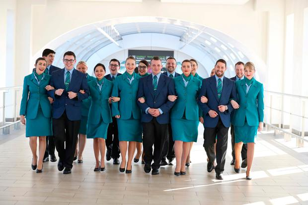 May 2017. New Aer Lingus cabin crew recruits. Picture Jason Clarke
