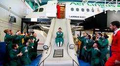 May 2017. Some of Aer Lingus's 200 new cabin crew recruits in summer 2017. Picture Jason Clarke