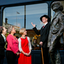 Collette Hiller, Sing London, Deputy Lord Mayor, Cllr Aine Clancy and Keelin Fagan, Failte Ireland at the launch of 'Dublin's Talking Statues'. Photo: Chris Bellew /Fennell Photography