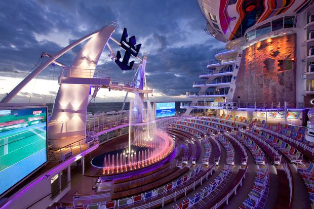 The Aquatheater on Allure of the Seas - Royal Caribbean International