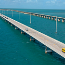 Traffic rolls on the Florida Keys Overseas Highway's Seven Mile Bridge Sunday, Oct. 1, 2017, near Marathon, Fla. Photo: Andy Newman/Florida Keys News Bureau/HO