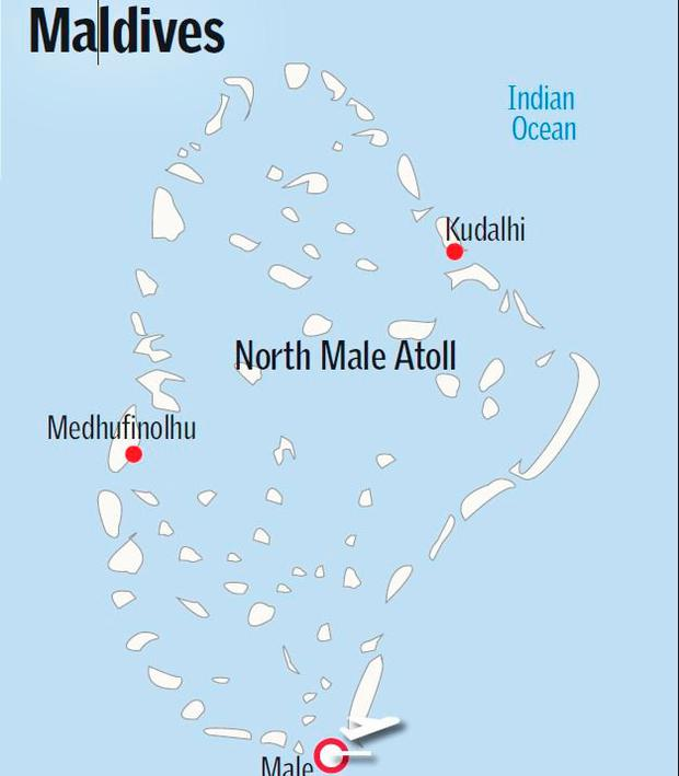 North Male Atoll. Map: Sunday Independent