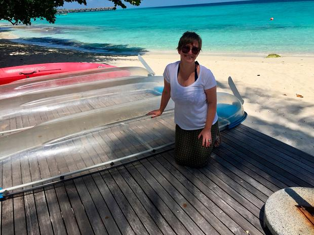 Gemma Fullam in the Maldives