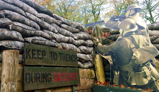 Th replica WW1 trench in Cavan County Museum