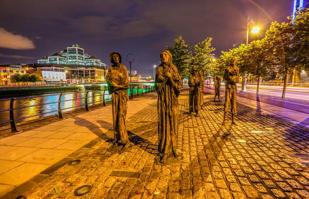 The famine memorial on Custom House Quay. Photo: Tara Morgan/Fáilte Ireland