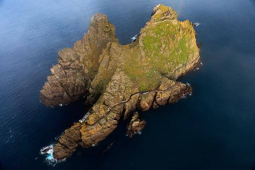 Skellig Michael, seen in an aerial photograph this winter. The island, with a monastic settlement dating from 588AD, is a major location in Star Wars: The Last Jedi. Photo:Valerie O'Sullivan