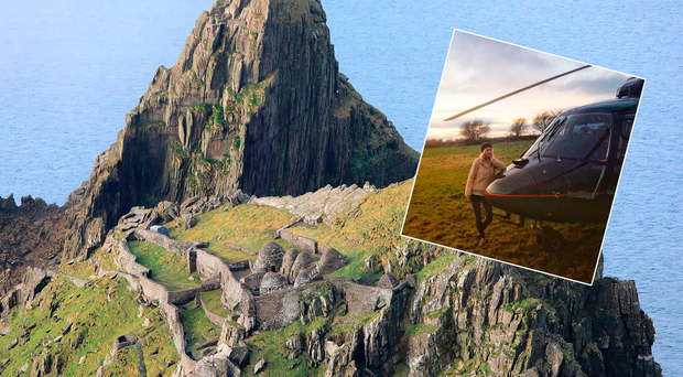 Skellig Michael by helicopter: A galaxy not so far away