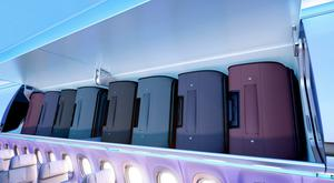 Airbus's new Airspace XL overhead bins on the A320. Credit: Airpsace
