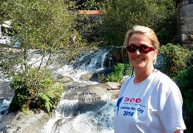 Lucia Ebbs walked the Camino in 2014 to raise money for CRY