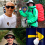 Clockwise, from top left: Juan Rodriquez, Cathering Dundon, Lucia Ebbs (and friends), Geraldine Carton and Pól Ó Conghaile on the Camino.