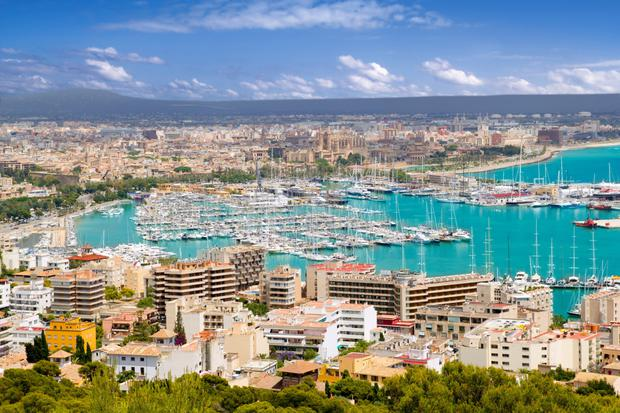 Sea and sun: The resort of Palma de Mallorca in ever -popular Majorca