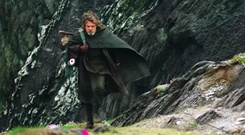 Screengrab: Mark Hamill as Luke Skywalker in Star Wars: The Last Jedi. Video: Tourism Ireland
