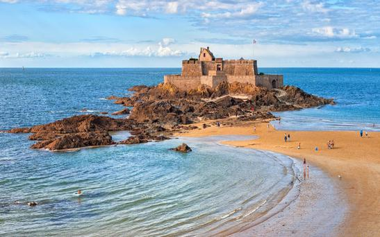 The coast of Brittany has inspiratinoal views around every corner - from the pink granite of Côtes d'Armor, to the Natural Regional Park of Armorique, to Fort National (pictured)